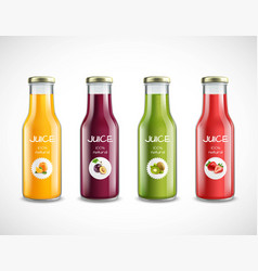 juice glass bottles set vector image vector image