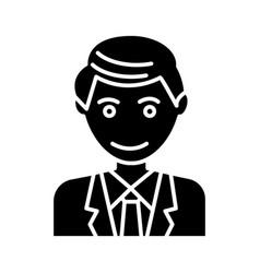 man office line businessman icon vector image