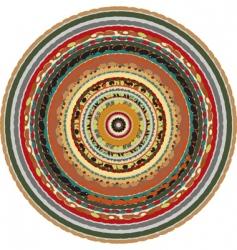 oriental circular background vector image