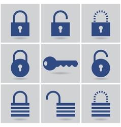 padlocks vector image