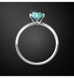 silver wedding ring vector image vector image