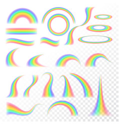 transparent rainbow set vector image