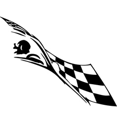 Checkered flag - symbol racing vector image vector image