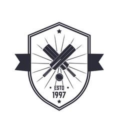 cricket vintage logo emblem on white vector image vector image