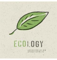ecology concept green leaf image vector image vector image