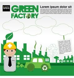 Green factory conceptual EPS10 vector image vector image