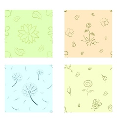 Nature seamless set vector image