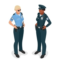 Policewoman in uniform Realistick flat 3d vector image