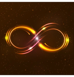 Shining infinity symbol vector image vector image