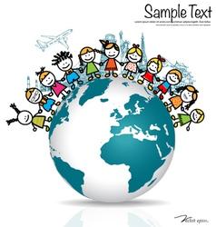 Simple 2014 year calendar vector image vector image