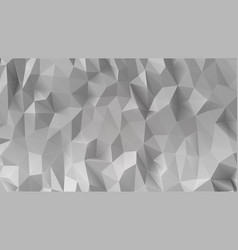 abstract gray 3d low polygonal background vector image