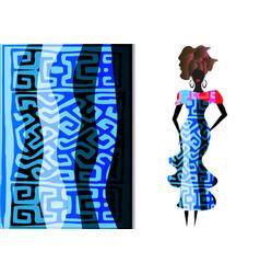 ankara clothing woman african print fabric vector image