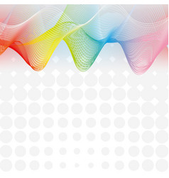background design with rainbow grid lines vector image