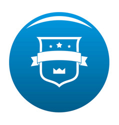 badge crown icon blue vector image