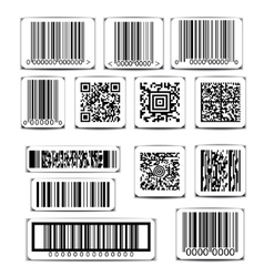 Barcode label set vector image