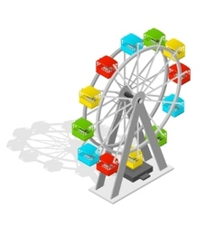 Big wheel isometric view vector