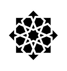 Black arabesque ornament vector