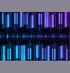 blue speed bar overlap in dark background vector image