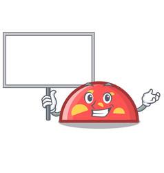 bring board semicircle character cartoon style vector image