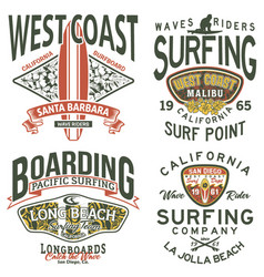 California west coast surfing team vector