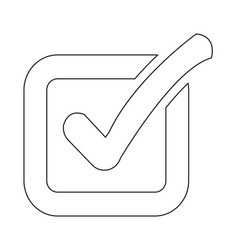 check list button icon vector image