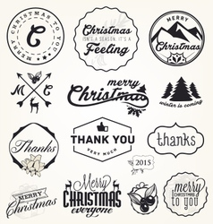 Christmas Greeting Card Badges and Labels vector