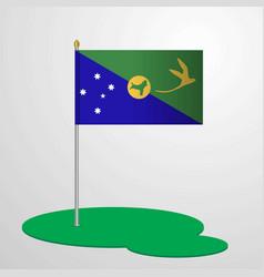 Christmas island flag pole vector