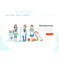 cleaning service landing page template vector image