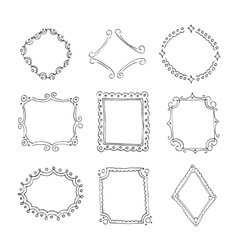 Collection of decorative loop frames vector