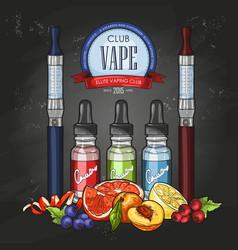 color sketch vaporizer cigarette vector image