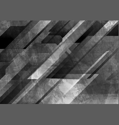 dark grey grunge technology geometry background vector image