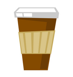 disposable coffee cup cartoon vector image