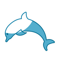 Dolphin marine animal vector
