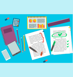 education elements set vector image