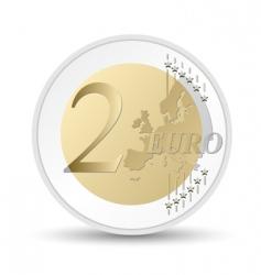 euro coin vector image vector image