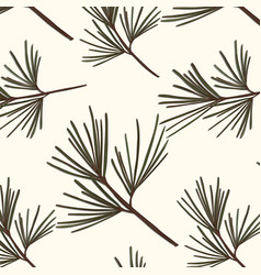 evergreen tree pattern vintage new year vector image