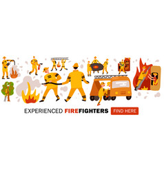 Experienced fire fighters header vector