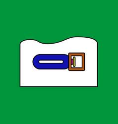 Flat icon design collection torpedo underwater vector