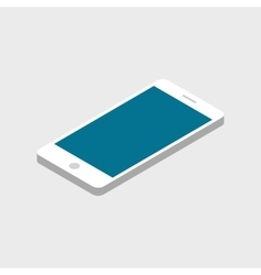 Flat isometric infographic phone vector image