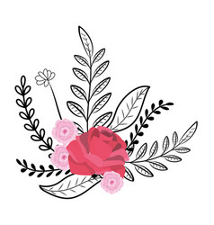 flowers wreath cartoon vector image