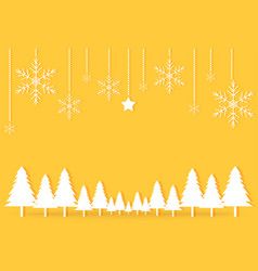 gold yellow christmas day paper postcard vector image