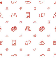 grain icons pattern seamless white background vector image