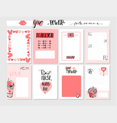 Hand drawn abstract graphic valentines day vector
