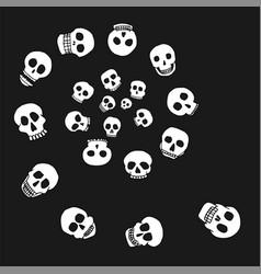 hand drawn skull spiral vector image