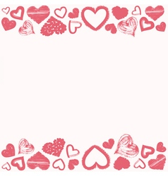 Hearts frame vector