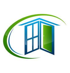 Home window door frame concept design symbol vector