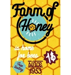 Honey farm banner vector image