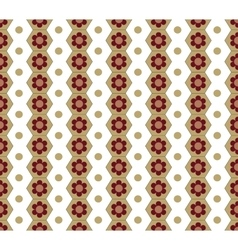 Honeycomb and circle seamless pattern vector image