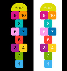 Hopscotch game for your design vector