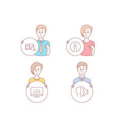 Info search book and music making icons face id vector